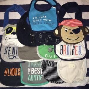 Assorted Babyboy Bib Bundle